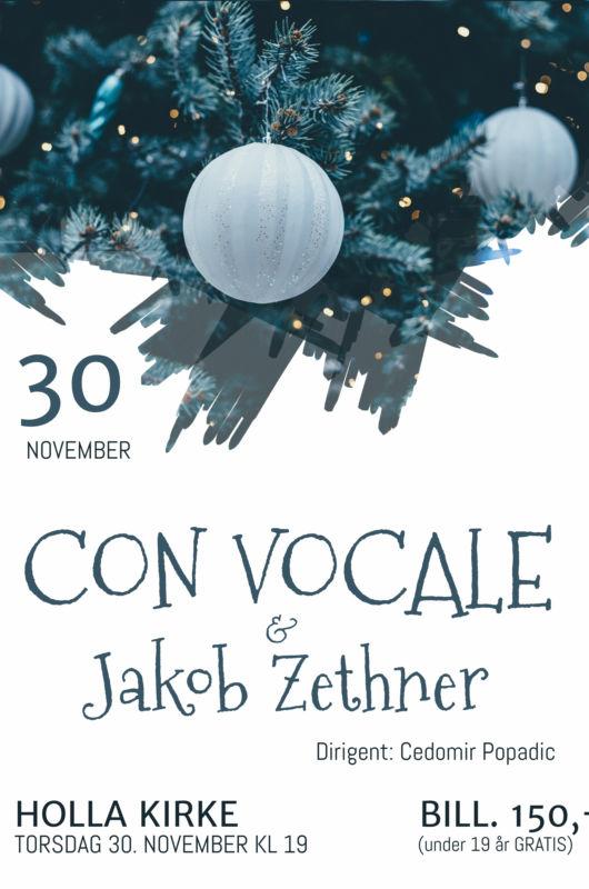 Con Vocale & Jakob Zethner i Holla kirke