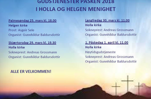 Gudstjenester i påsken 2018