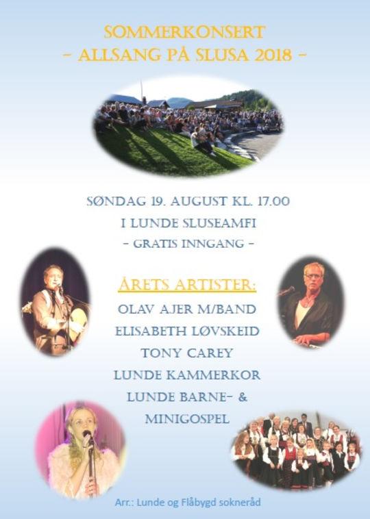 Sommerkonsert: Allsang på slusa