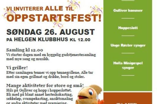 Oppstartsfest søndag 26. august