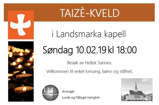 Taizè-kveld i Landsmarka kapell
