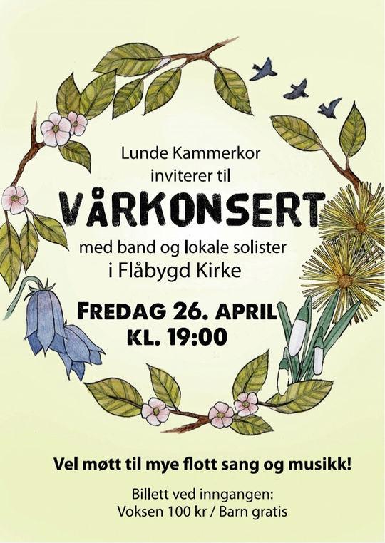 Vårkonsert med Lunde kammerkor