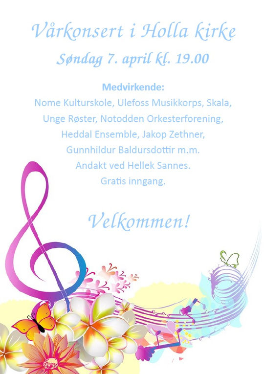 Vårkonsert i Holla kirke