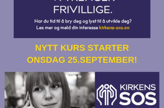 Kirkens SOS Telemark tilbyr nytt kurs!